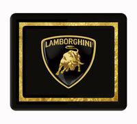 Lamborghini art, gold and black computer, laptop,iPad,  mouse pad