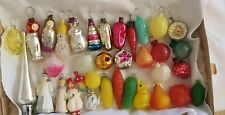 ANTIQUE Rare mini Christmas Decorations full set for mini tree Vintage Old