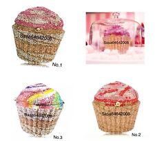 Evening luxury Cupcake crystal clutch multi color purse handmade handbag