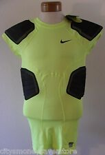 NWT Nike Pro Combat Hyperstrong 3.0 Compression 4-Pad Football Top XL Volt $85