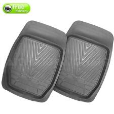 Floor 4WD Mud Mats Heavy Duty Dished Grey Rubber Front Pair Can Be Trimmed