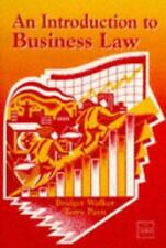 An Introduction to Business Law, Walker, Bridget & Payn, Terry, Used; Very Good