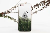 Nature iPhone 6s 7 8 Plus Case Forest Triangle iPhone X XR XS Max Silicone Cover