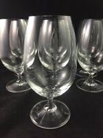 "Studio Nova VENICE 7"" Iced Tea Glass Twisted Stem Crystal Clear - Set of 7"