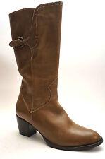 2030# Maripe Schuhe Absatz Stiefel Größe 40 (UK 6,5) hellbraun Leder italienisch