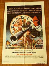 THE HUMAN FACTOR  ORIGINAL 1975 ONE SHEET MOVIE POSTER GEORGE KENNEDY JOHN MILLS
