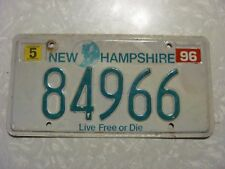 1996  NEW HAMPSHIRE LICENSE PLATE  FREE SHIPPING
