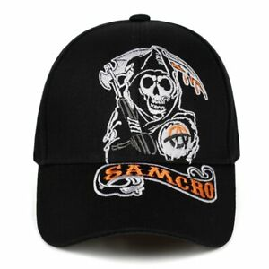 Sons of Anarchy Fear The Reaper Skull Embroidery Baseball Cap SOA Hat NEW! USA