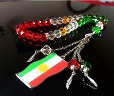 Kurdistan Flag Map Islamic Rosary 33 Beads Islam Souvenir Kurdish Masbaha