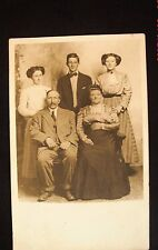 Real Photo, Divided Back Postcard - Family Picture - Parents, 2 Daughters & Son
