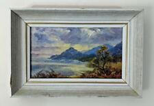 ERNEST KNIGHT (1915-1995) Small Oil Painting MOUNTAIN COASTLINE - IMPRESSIONIST