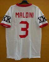 RARISSIMA FAN T-SHIRT PAOLO MALDINI 3 ITALIA MILAN MEMORABILIA SHIRT COTONE