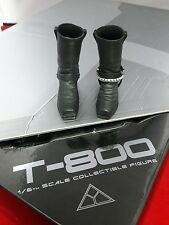 1/6 Hot Toys The Terminator T-800 MMS136 Black Boots  *US Seller*