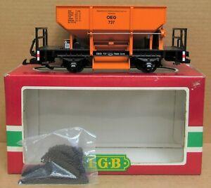 LGB 4041 OEG Ballast Hopper Car w/Ballast Load G-Gauge LNIB
