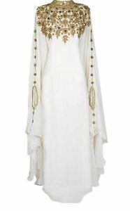 MOROCCAN KAFTANS ABAYA FARASHA MODERN DRESS VERY FANCY LONG GOWN TAKSHITA