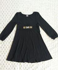 Gymboree Long Sleeve Soft Jersey Dress Embellished Waistline Sz 6