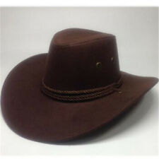 Retro Western Cowboy Cowgirl Chapeau Hommes Équitation Cap Fashion Large Bord déformable