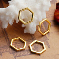 30Pcs Gold Plated Alloy Connectors Honeycomb Charms Jewelry Findings Accessories