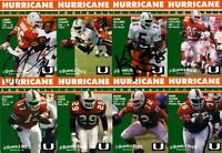 1992 Miami Hurricanes autographed signed card set Gino Torretta Jesse Armstead