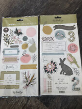 MME My Minds Eye WILD ASPARAGUS 35 Chipboard Elements. In Stock Ready to Ship!
