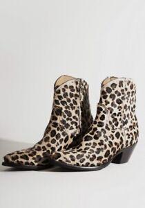 R13 Calf Hair Cowboy Ankle Boots Size 6 IT 36.