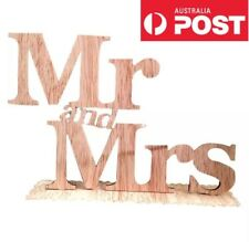 Mr And Mrs Sign Wooden Rustic Wedding Prop Decoration Cake Topper
