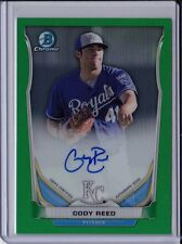 Cody Reed 2014 Bowman Chrome Green Refractor Auto #'d /75 Autograph Card Rookie