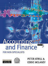 """VERY GOOD"" Accounting and Finance for Non-Specialists, McLaney, Eddie, Atrill,"