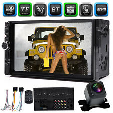 New listing 2 Din 7inch Car Mp5 Mp3 Player Bluetooth TouchScreen Stereo Radio Hd+Rear Camera(Fits: Mazda Tribute)