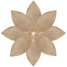 Christmas Tree Skirt Xmas Stand Cover Gold Glitter Star Decorations Poinsettia