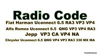 Fiat 356 520 VP2 7in ECE NAV Continental Radio Anti Theft Unlock Code Navigation
