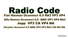 Radio Code Jeep Chrysler  VP4 RA3 VP3 QNG Key Code Continental 6.5 T00BE