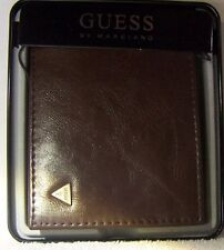 Guess By Marciano Designer Men's Wallet Classic Brown 10 Card Pockets Plus ID