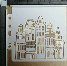 House Dwelling Stencil Embossing Scrapbooking Cardmaking Journal Home Decor