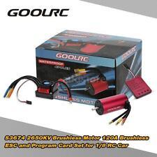 GoolRC 1/8 Car S3674 2650KV Brushless Motor 120A ESC/Program Card Combo Set R7N7