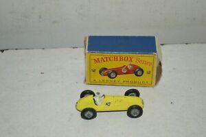 VOITURE MATCHBOX SERIES LESNEY Nº52 MASERATI 4CL T/1948  AVEC BOITE VINTAGE 1960