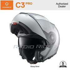 NEW Schuberth C3 PRO Motorcycle Tour Helmet   Glossy Silver   XS   Auth. Dealer