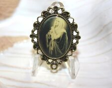 Custom Bronze Rosary Center Part/Color Image/Rosary Making/Sorrowful Mother Mary