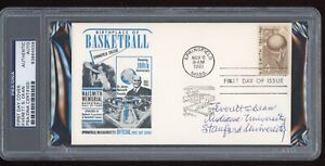 Everett S. Dean Signed 1961 Basketball HOF FDC First Day Cover PSA/DNA Indiana