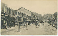 "CEYLON, ca. 1910, superb mint b/w pc ""Native Town KANDY"", very rare card - Plâtè"