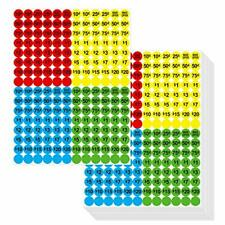 Garage Sale Flea Market Pricing Stickers Bright Colors Yellow Red Green New