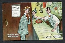 "C1910 Comic/Cartoon Card - Prawn Shop ""All is Not Gold that Glitters"""