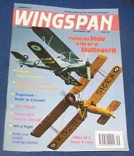 WINGSPAN MAGAZINE SEPTEMBER 1995 - PUTTING THE SHOW IN THE AIR AT SHUTTLEWORTH