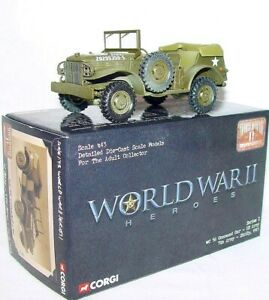 Corgi  World War II 1:43 US ARMY DODGE WC 56 COMMAND CAR SICILY `43 Truck MIB`03