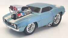 Muscle Machines 1/18 Scale Diecast 61181 - 1969 Chevrolet Camaro - Blue