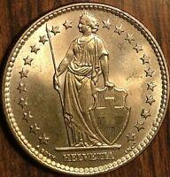 1961 SWITZERLAND 2 FRANCS HELVETIA COIN PIÈCE DE SUISSE