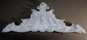Ornate large decorative centre piece white furniture Moulding ~ Pediment