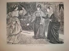 Battledoor and Shuttlecock 1871 print