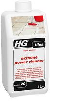 HG Piastrelle SUPER REMOVER Extreme Power Detergente per la maggior parte delle piastrelle 1 LITRO