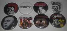 8 The Exploited button badges punk rock UK82 Punks not Dead Discharge Chaos UK